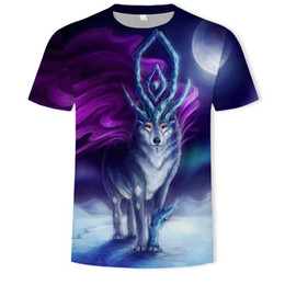 e981d837b Animal Deer T Shirts for Men Big Yards 3D Digital Printing Short Sleeve  Breathable Crew Neck Top Tees S-5XL