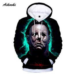 woman horror costumes 2019 - Hot Sale 3D Hoodies Sweatshirt Michael Myers Men Women halloween Cosplay Costumes hooded Scary Movie Horror 3D Spring Ho