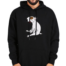 $enCountryForm.capitalKeyWord UK - Love Dog Hoodies Bull Terrier Naughty Pet Top Clothing Cotton Black Pocket Pullover Lovely Pitbull Sweatshirts