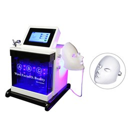 Discount hydro skin machine 2019 NEW 5 in 1 bio rf cold hammer hydro microdermabrasion water hydra dermabrasion spa facial skin pore cleaning machin