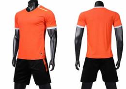 Wholesale men's short suit sets resale online – 2019 popular Men s Mesh training Football suit adult custom logo plus number Soccer Jerseys Sets With Shorts Customized Uniforms kits Sports