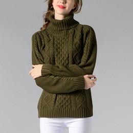 Preself Sweaters Geometric Argyle Turtleneck Knitting Pullover Long Sleeve Shirt  Tops Fashion Women Ladies Warm Clothing Colors 135cf6cee