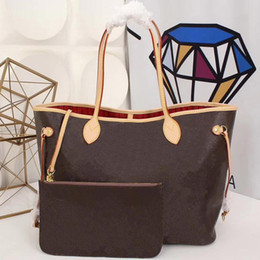 Wholesale Original 2018 free ship cowhide leather Totes handbags Soft Canvas leather Strap shopping bag Never single shoulder bag