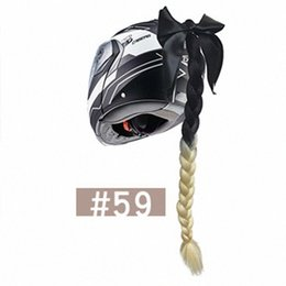 Women Punk Style Gradient Braids Wig Decoration DIY For Motorcycle Helmet Motorcycle Accessories Helmet Braid Ooxv# on Sale