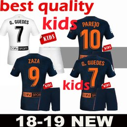 2019 CF valencia camiseta de fútbol blanca Kits de niños 18 19 MINA PAREJO GAYA VIETTO GUEDES ZAZA G.GUEDES RODRIGO camiseta azul de fútbol de valencia