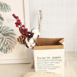 Flower Fillers online shopping - Dried white Cotton fake Flowers Stems Farmhouse Style Naturally Pompom Artificial Flower Filler Floral plante artificielle