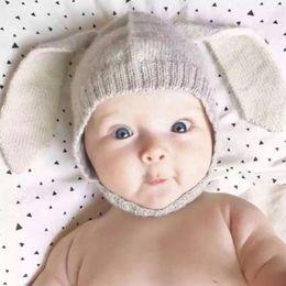 $enCountryForm.capitalKeyWord Australia - Baby Rabbit Long Ear Knitted Hat Toddler Infant Bunny Beanie Cap Baby Autumn Winter Hat