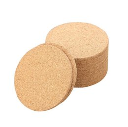 Wholesale 500pcs Classic Round Plain Cork Coasters Drink Wine Mats Cork Mats Drink Wine Mat ideas for wedding and party gift