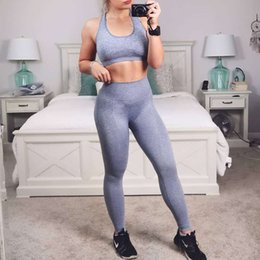 $enCountryForm.capitalKeyWord Australia - Seamless Yoga Set Women Fitness Clothes 2 Piece Female Gym Leggings Push Up Sports Bra Top Sportswear Sport outfit for woman