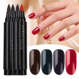 Red nail aRt diy online shopping - Soak off UV LED Gel Polish Pen Nail Polish Nails Art Multiple Colour Painting Gel DIY Nails Glue Varnish Pen Manicure Tool