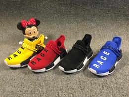 5fdec98b18d4d 2019 Human Race Kids Running Shoes NO Box Pharrell Williams Sample Yellow  Core Black Sport Designersneakers Shoes Boys Girls Sneakers 28-35