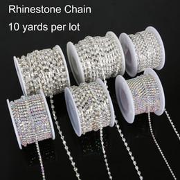 $enCountryForm.capitalKeyWord NZ - SS 6-18 10 Yard Copper Claw Rhinestone Chains White AB Transparent Glass Rhinestone Jewelry Craft Apparel Sew On Accessoires DIY