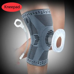 $enCountryForm.capitalKeyWord Australia - Silicone Spring Kneepad Basketball Knee Brace Compression Knee Support Sleeve Injury Recovery Fitness Sport Safety Protection Gear M407F