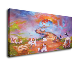 $enCountryForm.capitalKeyWord UK - Jim Warren Abstract Art All Dogs Go To Heaven,Oil Painting Reproduction High Quality Giclee Print on Canvas Modern Home Art Decor