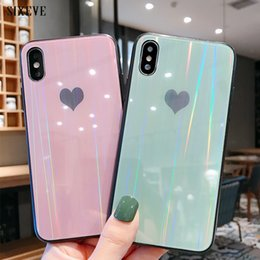 $enCountryForm.capitalKeyWord Australia - Tempered Glass Case For iPhone 6 S 6S 7 8 Plus iPhone X 10 XR XS Max 6Plus 6SPlus 7Plus 8Plus Aurora Colorful Love heart Cover