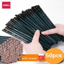 eraser sets Australia - Deli Pupils Pencil Children Writing Drawing Art Sketch Hexagonal Wood Lead HB 2B Pencil with Eraser Student Stationery Lapices