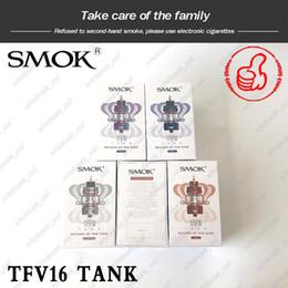 $enCountryForm.capitalKeyWord Australia - Authentic SMOK TFV16 TANK 9ml TFV16 Sub ohm Mesh Atomizer with Dual & Triple Mesh Coils Best Flavor Max Airflow King Returner DHL Free