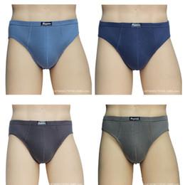 $enCountryForm.capitalKeyWord Australia - 4 Pcs lot Breathable Mesh Silk Men's Underwear Briefs Men Bamboo Fiber Male Underwear Random Delivery MX190720