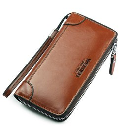 Long Male Wallet Zipper Australia - Long Men's Wallet Purse Card Holder Mens Wallet Pu Leather Brand Casual Clutch Male High Quality Zipper Coin Purse For Men Black Y19052302