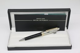 $enCountryForm.capitalKeyWord Australia - Top Grade MB Ballpoint pen Meisterstucks up silver Carving metal gold trim down black resin with serial numbers stationary supplies
