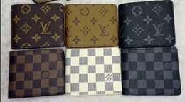 Rains bags online shopping - Mens new L bag billfold High quality Plaid pattern women wallet men pures high end luxury s designer L wallet