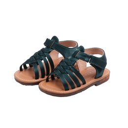 brown sandals for girls NZ - Princess Shoes Genuine Leather Kids Sandles For Baby Girls Woven Children Summer Sandals Toddler Sandal 2020 6m 1 2 3 4 5 6 7 8