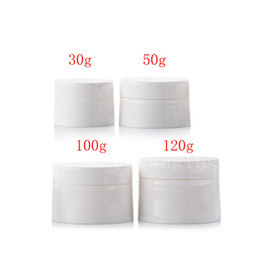 $enCountryForm.capitalKeyWord Australia - Empty white cosmetics container with screw lid, skin care face cream jar , Plastic pot for cosmetic packaging, more size bottle
