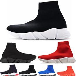 acd6553b55f 2019 mens Speed Trainer Chaussettes Bottes Chaussures De Créateur Triple  Black Fashion Marque De Luxe Femmes Sneakers Runner Noir Rouge Chaussures  de ...