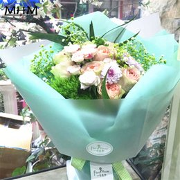 cellophane paper wholesale Australia - 100pcs Hot Sale Fashion Clear Mist Bouquets Flowers Packaging Materials Cellophane Gift Flower Wrapping Paper Flower Shop