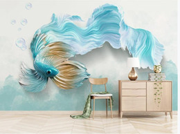 $enCountryForm.capitalKeyWord NZ - Luxury Blackout 3D Window Curtains For Living Room Bedroom Modern 3d abstract blue guppies background wall