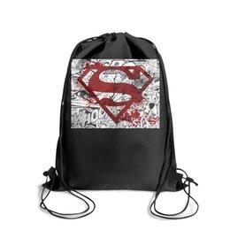 $enCountryForm.capitalKeyWord NZ - Drawstring Sports Backpack Superman Comic Logo in Red Superman Beatsoutdoor convenient Yoga Travel Fabric Backpack