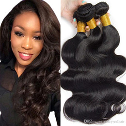 Top Quality Human Hair Extensions Australia - Top Quality Indian Virgin Hair 100% Human Hair Weaves 300gr 3pcs Lot Hair Bundles Body Wave Straight For Extension, accept drop shipping