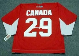 Tops Canada Australia - Cheap customize KEN DRYDEN 1972 Team Canada CCM Vintage Top Hockey Jersey Mens Stitched Personalized Jerseys
