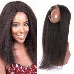 $enCountryForm.capitalKeyWord Australia - 360 Lace Frontal Brazilian Unprocessed Human Virgin Hair Kinky Straight Lace Frontal Natural Color Fast Shipping G-EASY