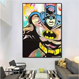 Modern pop art paintings online shopping - Modern Hand painted abstract Pop art hand painted Batman on canvas painting good for bar decoration