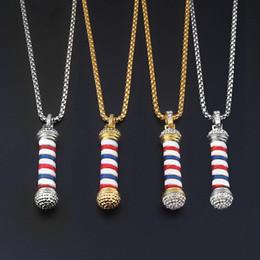 $enCountryForm.capitalKeyWord Australia - 2017 New Fashion Barber Shop Pole 3D Barber Pole Chain Pendant Necklace Hip Hop Barber Hairdresser Gothic Necklace Jewelry