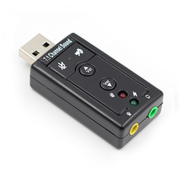 Wholesale USB Sound Card Virtual 7.1 External USB Audio Adapter USB to Jack 3.5mm Earphone Micphone Sound Card for Laptop Notebook PC