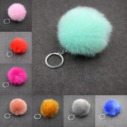 $enCountryForm.capitalKeyWord Australia - Free DHL Fluffy Faux Rabbit Fur Ball Keychain 29 Styles Key Ring Keychains Keyrings Keyfob 3.15 Inch Men Women Fashion Accessories C95Q F