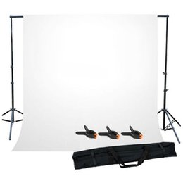 Photos white background online shopping - Photo Studio Background Support Stand with White Backdrop Carrying Case