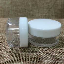 Cream Powders Australia - 1000Pcs Lot 5G Cream Jar, white Empty Plastic Cosmetic Container, 5ml Small Sample Makeup nail powder case