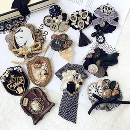 brooches for hair Australia - Korea Vintage Luxurious Rhinestone Pearl Plush Lace Brooches Hairpins Fashion Hair Jewelry For Woman Girls Clothes Accessories