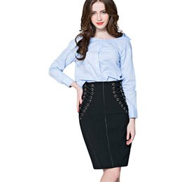 $enCountryForm.capitalKeyWord UK - feitong Solid New Fashion Female Autumn Sexy Bandage Tie Office Lady High Waist Skirt faldas mujer moda 2019 Elegant Casual Hot