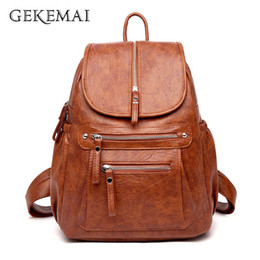 $enCountryForm.capitalKeyWord NZ - 5 Colors Ladies Sheepskin Leather Backpack Fashion Women Travel Backpacks Luxury Sac A Dos School Backpacks For Girls Mochilas MX190708