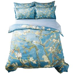 $enCountryForm.capitalKeyWord Australia - Van Gogh Flower Painting Bedding Set Twin Queen King Size Bedroom Decor Duvet Cover Branches of an Almond Tree in Blossom