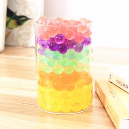 wholesale plant gel soil NZ - 1000pcs bag Colorful Pearl Gel Ball Polymer Hydrogel Potted Crystal Mud Soil Water Beads Grow Magic Jelly Wedding Home Decor 5Z