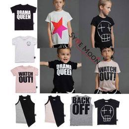 c240ce2f88e36 Kids T Shirts 2019 Nununu Summer Boys Girls Robot stars Letter Print Short Sleeve  T Shirts Baby Child Cotton Tops Tees Clothes J190427