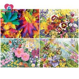 5d diamond UK - Diamond Embroidery Flowers Diamond Painting Full square drill Cross-stitch 5D DIY Mosaic Paintings Picture Rhinestone Home Decor