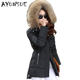 Down parka 5xl online shopping - Winter Jacket Women Winter Coat Women Long Parka Luxury Fur Cotton Padded Down Coats Wadded Jackets XS XL CP0131