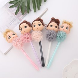 Lace stationery online shopping - 25 Gel Pens Confused Girl lace black colored kawaii gift gel ink cute pens for writing Cute stationery office school supplies