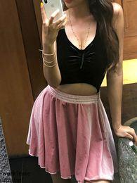 $enCountryForm.capitalKeyWord Australia - 2019 New Korean Women Swimsuit One-piece V-front High Waist Cross Strap Skirt Backless Wire Free with Padding Swim Wear